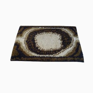 Alfombra danesa abstracta en marrón de Ege Rya, años 60