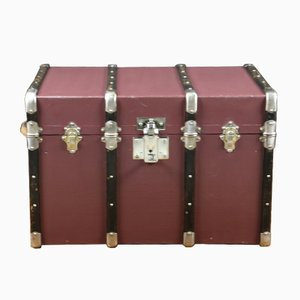 French Steamer Trunk with Key, 1920s