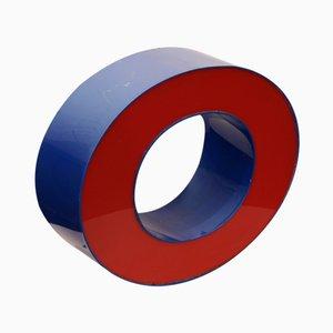 Lettre O Vintage Rouge & Bleue