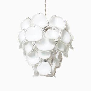 Modernist Italian Murano Glass Chandelier from Mazzega