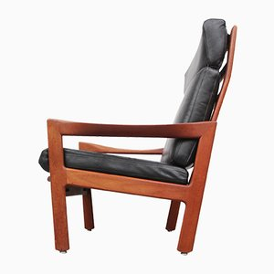 Teak Highback Armchair by Illum Wikkelso for Niels Eilersen, 1960s