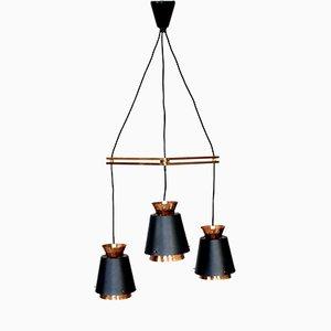 Lámpara colgante escandinava Mid-Century de cobre