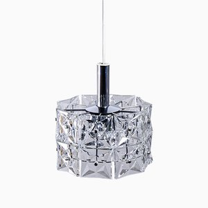 Lampadario vintage geometrico in cristallo di Kinkeldey