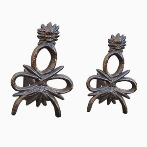 Vintage Andirons, Set of 2