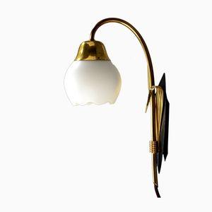 Dänische Tulpen Messing Wandlampe, 1960er