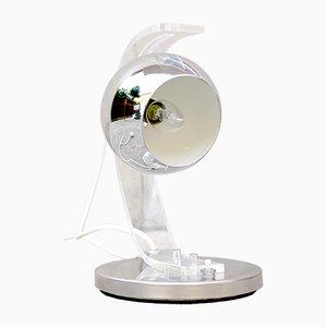 Chrome Hemispherical Table Lamp by Harvey Guzzini, 1970s