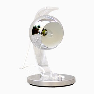 Lampe de Bureau Hémisphère en Chrome par Harvey Guzzini, 1970s