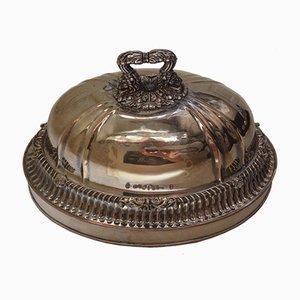 Campana francesa antigua bañada en plata