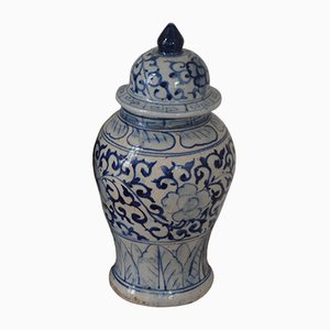 Antique Lidded China Vase