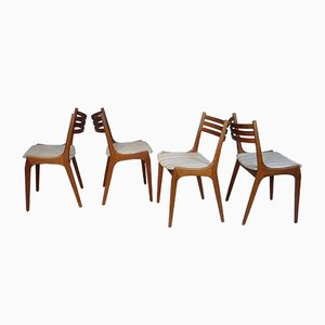 Scandinavian Teak Dining Chairs, 1960s, Set of 4
