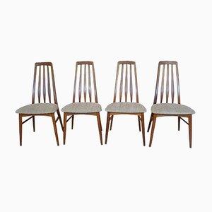 Chaises de Salon Eva par Niels Koefoed pour Koefoed Møbelfabrik, 1960s, Set de 4