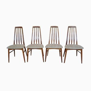 Eva Teak Dining Chairs by Niels Koefoed for Koefoed Møbelfabrik, 1960s, Set of 4