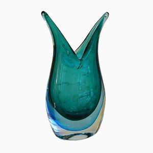 Jarrón free form de cristal de Murano Sommerso de Maurizio Toso Borella para Vetreria Navagero, años 80