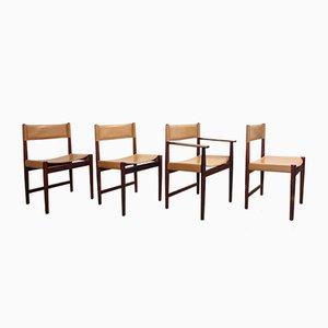 Chaises de Salon Vintage en Palissandre par Kurt Ostervig pour Sibast, Set de 4