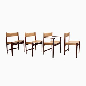 Vintage Palissander Dining Chairs by Kurt Ostervig for Sibast, Set of 4
