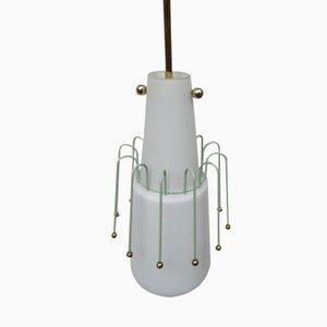 Lámpara colgante italiana de vidrio, años 50