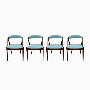 Mid-Century Model 31 Chairs by Kai Kristiansen for SVA Møbler, Set of 4