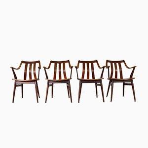 Niederländische Esszimmerstühle mit Armlehnen, 1968, 4er Set