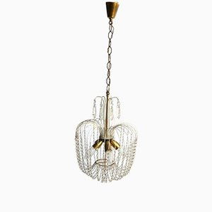 Vintage Italian Chandelier with Glass Beads