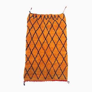 Vintage Tangerine Moroccan Boujad Rug