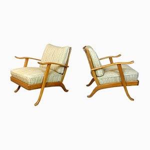 Mid-Century German Easy Chairs from Wilhelm Knoll, 1950s, Set of 2