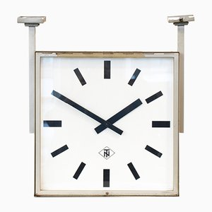 Double-Sided Ceiling Clock from TN Telenorma, 1960s