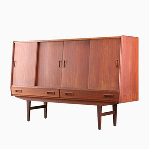 Danish Teak Highboard by Børge Seindal for Westergaard Møbelfabrik, 1960s