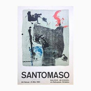 Poster mostra Santomaso di Erker-Presse, 1964