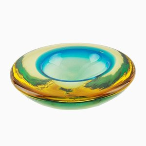 Multicolored Murano Glass Ashtray, 1950