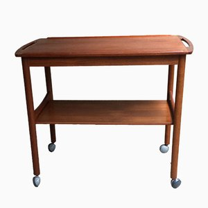 Danish Teak Bar Trolley by Poul Hundevad for Hundevad & Co., 1960s