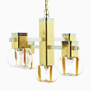 Lámpara de araña italiana de Lampadari, años 70