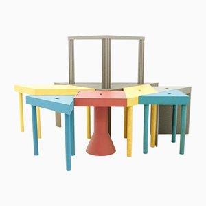 Tavoli Tangram di Massimo Morozzi per Cassina, 1983, set di 8