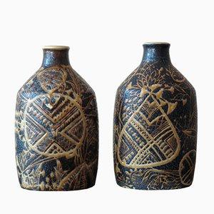 Keramik Vasen von Nils Thorsson für Royal Copenhagen, 1960er, 2er Set