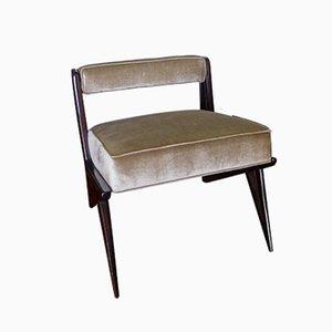 Chaise d'Appoint Verte Pâle en Cuir, 1950s