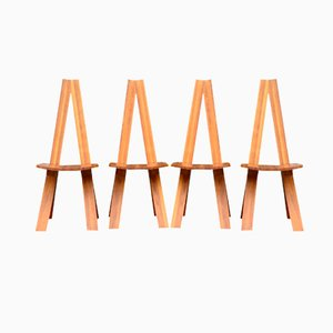 Chaises Chlacc S45 Vintage par Pierre Chapo, Set of 4