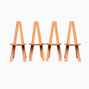 Vintage Chlacc S45 Stühle von Pierre Chapo, 4er Set
