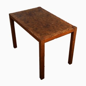 Mesa de centro a cuadros de wengué, roble y caoba de Gorm Lindum para Tranekær Furniture, años 70