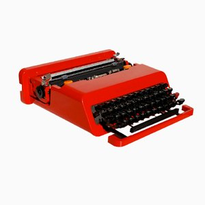 Vintage Valentine Portable Typewriter by Ettore Sottsass for Olivetti