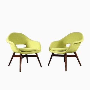 Easy Chairs par Miroslav Navratil pour Cesky Nabytek, 1960s, Set de 2