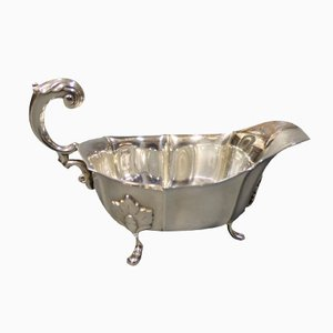Small Vintage Silver Sauceboat with Handle by Albrechtsen for Carl M. Cohr & Johannes Siggard