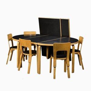 Beech & Linoleum Dining Set by Alvar Aalto for Artek, 1950s