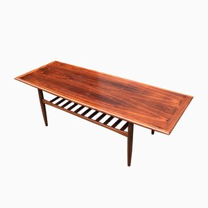 Mid-Century Danish XL Palisander Coffee Table by Grete Jalk for Glostrup, 1960s