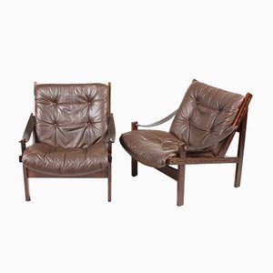Mid-Century Lounge Chairs by Torbjørn Afdal for Bruksbo Norway, Set of 2