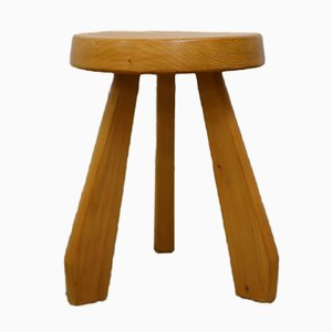 French Les Arcs Stool by Charlotte Perriand