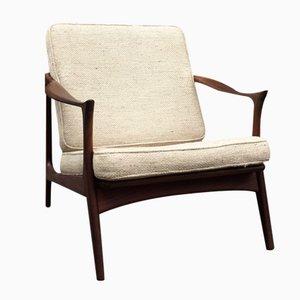 Easy Chair Mid-Century en Teck par Arne Hovmand Olsen pour Mogens Kold, 1960s