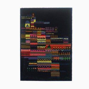 Tapiz de lana tejida de Schwabinger Kunstler Kollection, años 60