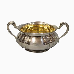 Zuccheriera piccola vintage in argento di P. Hertz per Christian Fr. Heise