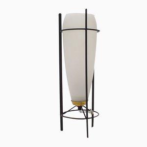 Lampada da tavolo vintage in vetro smerigliato di Philips