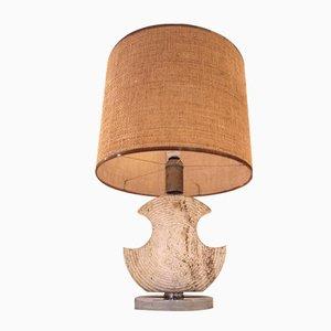 Tischlampe aus Keramik mit Muschel- Optik, 1970er