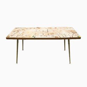 Table Basse avec Plateau Peint, France, 1950s